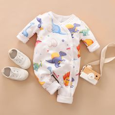 Baby Dinosaur Allover Long-sleeve Jumpsuit Source by patpatshopping Winter Baby Clothes, Autumn Clothes, Baby Winter, Cute Baby Clothes, Summer Clothes, Baby Outfits Newborn, Baby Boy Outfits, Kids Outfits, Baby Jumpsuit
