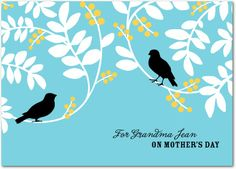 Gratitude Garden - Mother's Day Greeting Cards in Teal | DwellStudio