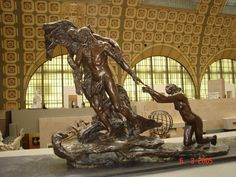 Maturity - Camille Claudel  :: Made at the time of the break between the young woman and Rodin, this group evokes the sculptor's hesitation between his former lover, Rose Beuret, who was to prevail, and Camille, who leans forward risking to lose her balance, in order to retain him.