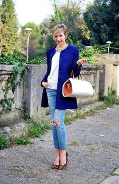 Basic Look, Blu & Bianco