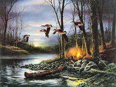 Evening Glow by Terry Redlin - like on Mary Poppins.... I wish I could jump inside his paintings.... Live life as simply as he portrays it...