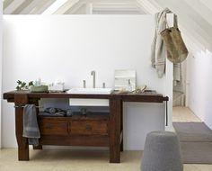 Mobile lavabo in legno TAUL - Rexa Design