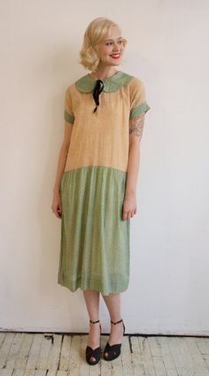 1920s Dress // vintage 20s day dress // Just by dethrosevintage, $245.00