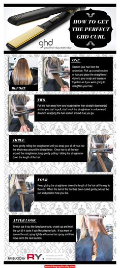GHD how to get curls with a straightener. Easy and cute!