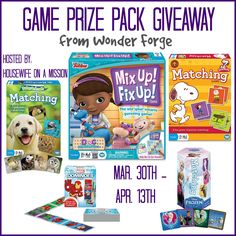 Housewife on a Mission: Perfect for Spring! New Wonder Forge Games! | Review + A Giveaway