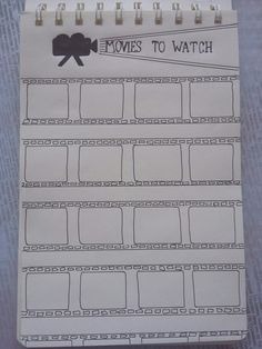 My Movies to Watch bullet journal page #bulletjournal #bujo #bujocollections #moviestowatch #movieslist