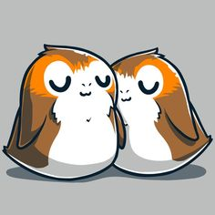 Sleepy Porgs T-Shirt / Mens / S - Star Wars Tshirt - Trending and Latest Star Wars Shirts - Star Wars Tattoo, Star Wars Quotes, Star Wars Humor, Star Wars Drawings, Cute Drawings, Star Wars Facts, Star Wars Wallpaper, Cute Stars, Star Wars Tshirt