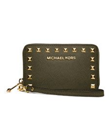 MICHAEL Michael Kors  Large Selma Multifunction Studded Phone Case