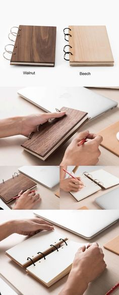 Wood Cover Note Book