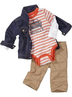 Denim Jacket & Jersey-Lined Pull-On Pants For some day, Apsite Luekenga Little Boy Outfits, Little Boy Fashion, Baby Boy Fashion, Baby Boy Outfits, Kids Fashion, Toddler Boys, Baby Kids, Baby Baby, Cute Baby Clothes