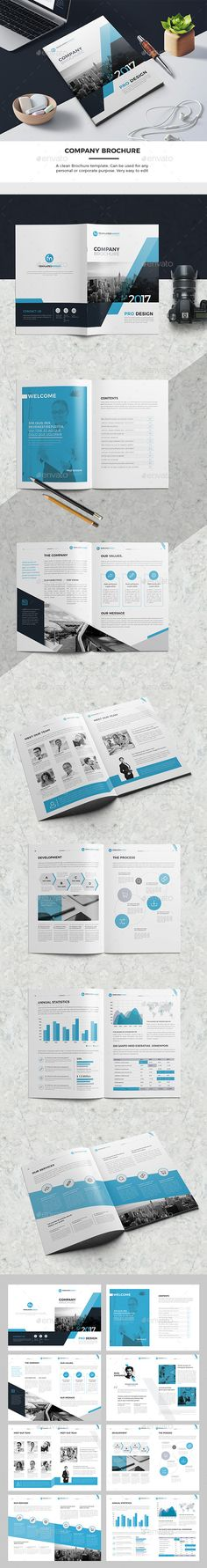#Company #Brochure - #Corporate Brochures Download here: https://graphicriver.net/item/company-brochure/19525919?ref=alena994
