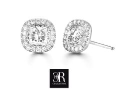 Damsel. Damsel are a pair of cushion cut diamond stud earrings, each stud featuring 18 claw set calibrated fine round brilliants. These perfectly matched cushion cuts create a glamorous effect. P.O.A. Visit us soon for the perfect diamond jewellery experience. #love #diamonds #earrings Wedding Engagement, Wedding Rings, Cushion Cut Diamonds, Diamond Stud, Diamond Jewellery, Glamour, Stud Earrings, Create, Beautiful