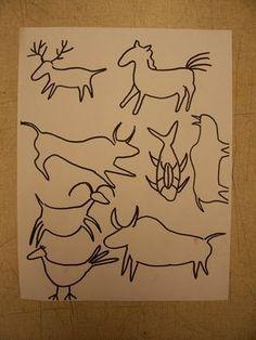cave art templates
