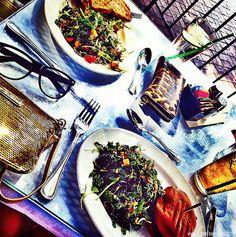 BLONDER AMBITIONS   INSTAGRAM RECAP – FOOD EDITION. pierre lafond wine bistro – kale   sprouts   gluten free bun   mustard aioli   tri tip   caramelized onions