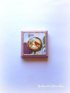 """Mini toile décorative série """" Un Chant d'Amour """" n°12 : Accessoires de maison par jademiel-etincelles"""