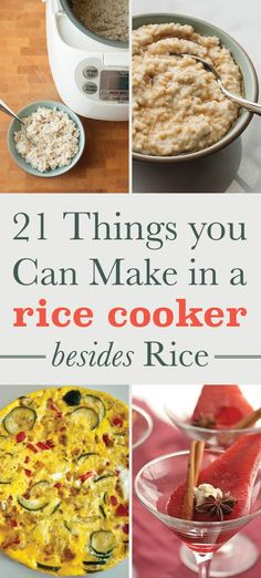 21 Unexpected Things You Can Make In A Rice Cooker Rice cookers = the hidden gem of the kitchen. - 21 Things You Can Make In A Rice Cooker Besides Rice DIY recipes Aroma Rice Cooker, Rice Cooker Steamer, Rice Cooker Recipes, Pressure Cooker Recipes, Rice Recipes, Crockpot Recipes, Cooking Recipes, Rice In Rice Cooker, Rice Cooker Banana Bread Recipe