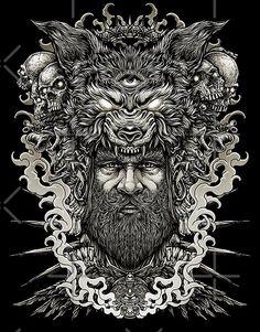Neo Traditional, Canvas Prints, Art Prints, Dark Art, Tattoos For Guys, Lion Sculpture, Statue, Unique, Artist