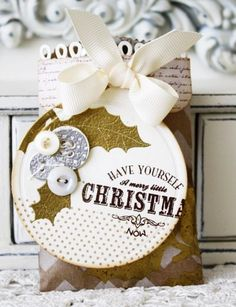 Another pretty gift bag and tag from Melissa Phillips.