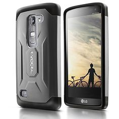 Evocel® LG Escape 2 / Spirit H443 Case [X-Generation Series] Slim Fit Dual Layer Design Hybrid Armor Protective Case For LG Escape 2 / LG Spirit H443 (AT&T / Cricket) - Retail Packaging, Charcoal Evocel http://www.amazon.com/dp/B010QUNG3Q/ref=cm_sw_r_pi_dp_T4dLwb0WM8XFS