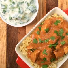 Lean chicken breasts are slowly cooked in a flavorful sauce made with tomato paste, coconut milk, ginger and garam masala to create a lightened up version of the popular Indian dish, chicken tikka masala.