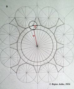 Geometric Drawing, Mandala Drawing, Geometry Art, Sacred Geometry, Pattern Art, Pattern Design, Mother Art, Islamic Patterns, Pen Art