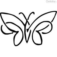 Usługi grawerowane - motylek