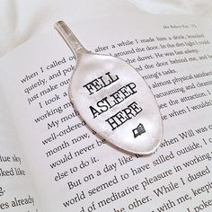 Fell Asleep Here - Spoon Bookmark, the perfect gift for a bookworm - Gift for her, reader, books, stocking stuffer