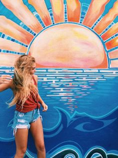 Pin by peyton decker on pic inspo. Cute Photos, Cute Pictures, Beachy Pictures, Mural Art, Wall Art, Murals, Graffiti, Guache, Surfer