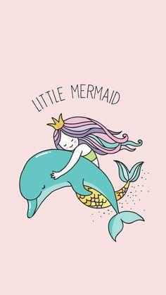 New little mermaid wallpaper backgrounds art prints ideas