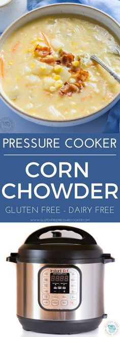 My Instant Pot make perfect Pressure Cooker Corn Chowder, it's draws out the natural sweet flavor of the corn! You can cook it in only ten minutes. Power Pressure Cooker, Instant Pot Pressure Cooker, Pressure Cooker Recipes, Pressure Cooking, Chowder Recipes, Soup Recipes, Chili Recipes, Crockpot Recipes, Recipes