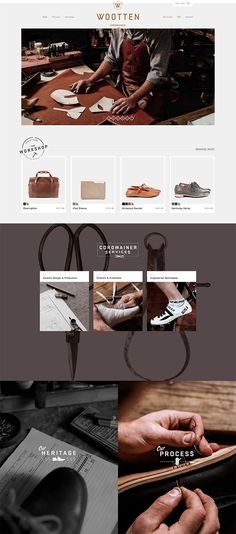 Wootteen Cordwainer and Leather Craftsman about page http://wootten.com.au/#services
