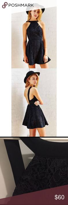 Black Keepsake cocktail dress. Urban Outfitters SO cute. Sad to sell it. Beautiful lace. Sexy open back. Worn once. urban outfitters. Urban Outfitters Dresses Backless