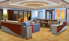 INT OFFICE CORNER DAY Cenário anime Cenário para vídeos Ambiente