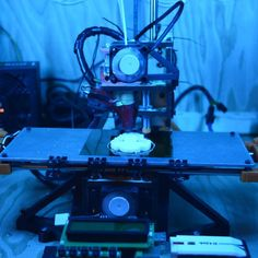An awesome Pirntrbot pic! The blue lights are nice calming which is important when dealing with jams and broken parts.  #printrbot #3dprinters #3dprinter #startup #innovationb#technology #raspberrypi #maker #diy #winnipeg #mantioba #canada by cmdann Check us out http://bit.ly/1KyLetq