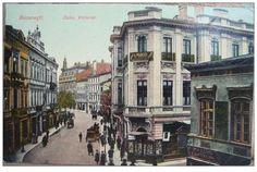 Bucuresti - Calea Victoriei - 1910-1920 Little Paris, Bucharest Romania, Old Photography, Power Boats, Old City, Photo Archive, Vintage Photographs, Homeland, Old Photos