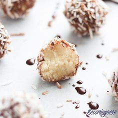 NEW RECIPE... Just in time for Australia Day  Lamington Bliss Balls! AMAZING!  Grab the link to the recipe in my bio