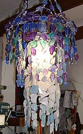 Round sea glass chandelier malibu market design beach house riaan chambers exquisite sea glass chandeliers aloadofball Choice Image