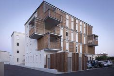*3층 공동주택으로 개조한 공장 [ Thomas Landemaine Architectes ] Social Housing in Aigues-Mortes :: 5osA: [오사]