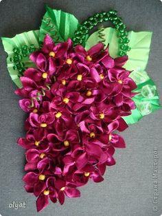 Украшение Цумами Канзаши Цветы Ленты фото 7