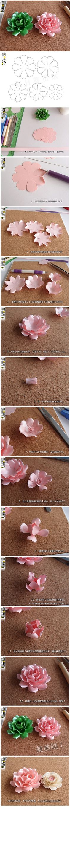 This Pin was discovered by อุม Paper Flowers Craft, How To Make Paper Flowers, Paper Flower Wall, Paper Flower Backdrop, Flower Crafts, Diy Flowers, Fabric Flowers, Paper Crafts, 3d Quilling