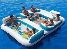 Sofina Blue Lagoon Floating Island Huge 6 Person Pool Float
