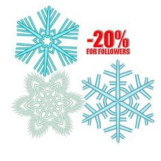 Snowflakes Embroidery design Christmas embroidery designs Snow Machine embroidery design etsy shop by Freeembroidery on Etsy