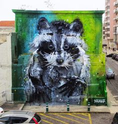 Bordalo installation in Belem, Portugal, 4/15 (LP)