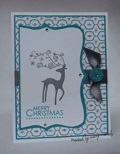 dasher merry christmas by MaryR917 - Cards and Paper Crafts at Splitcoaststampers