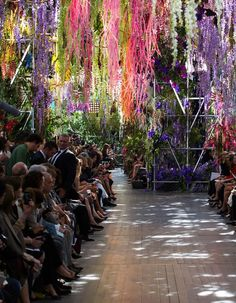 Christian Dior venue for Fashion Week in Paris, with flowers by Eric Chauvin