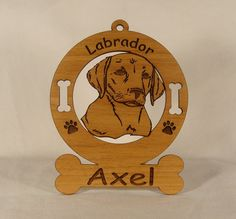 3483 Labrador Puppy Head Personalized Ornament by gclasergraphics, $9.95