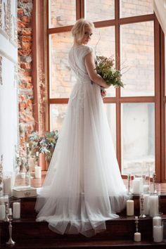 Wedding dress TESSA / Light vintage wedding dress two piece