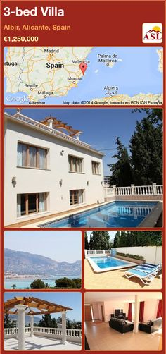 Villa for Sale in Albir, Alicante, Spain with 3 bedrooms - A Spanish Life Murcia, Great Places, Places To Go, Big Living Rooms, Alicante Spain, Cultural Events, Cool Pools, Sandy Beaches, Great View