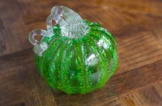 Hand Blown Glass Pumpkin (green). $39.00, via Etsy.