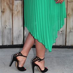 bd5a3609398  MySoleSociety  bright green and a semi caged heel Caged Heels